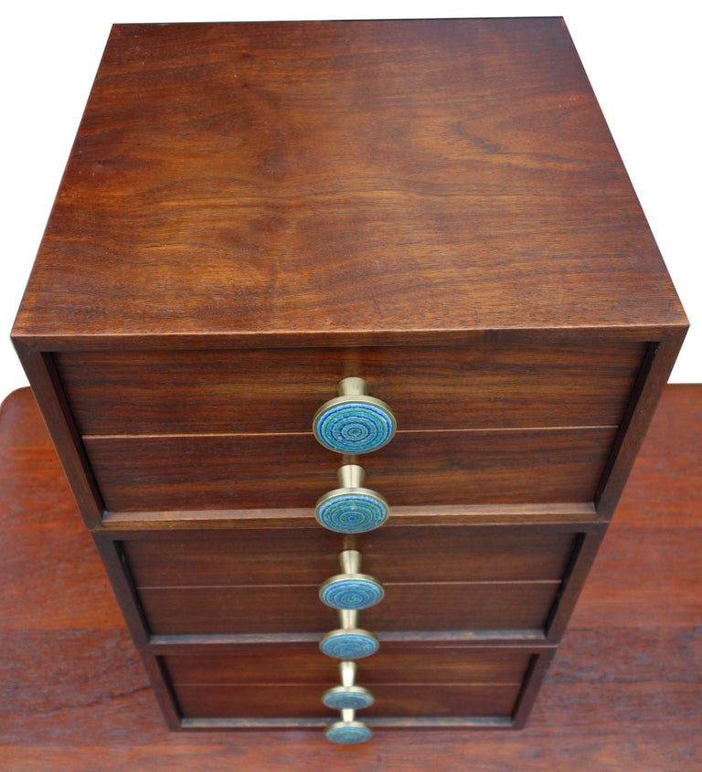 Midcentury Cabinet Top Set of Drawers In Good Condition For Sale In BROOKLYN, NY