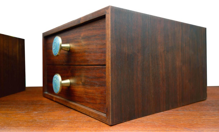 20th Century Midcentury Cabinet Top Set of Drawers For Sale