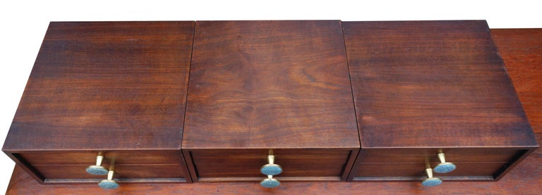Midcentury Cabinet Top Set of Drawers For Sale 1