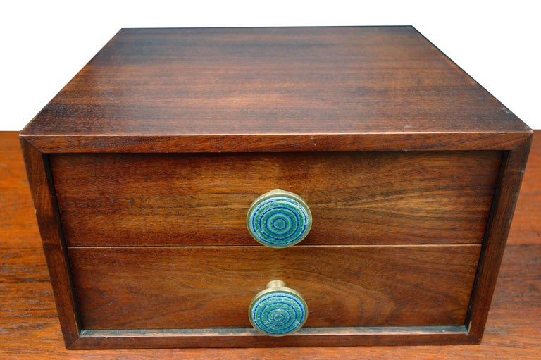 Midcentury Cabinet Top Set of Drawers For Sale 2