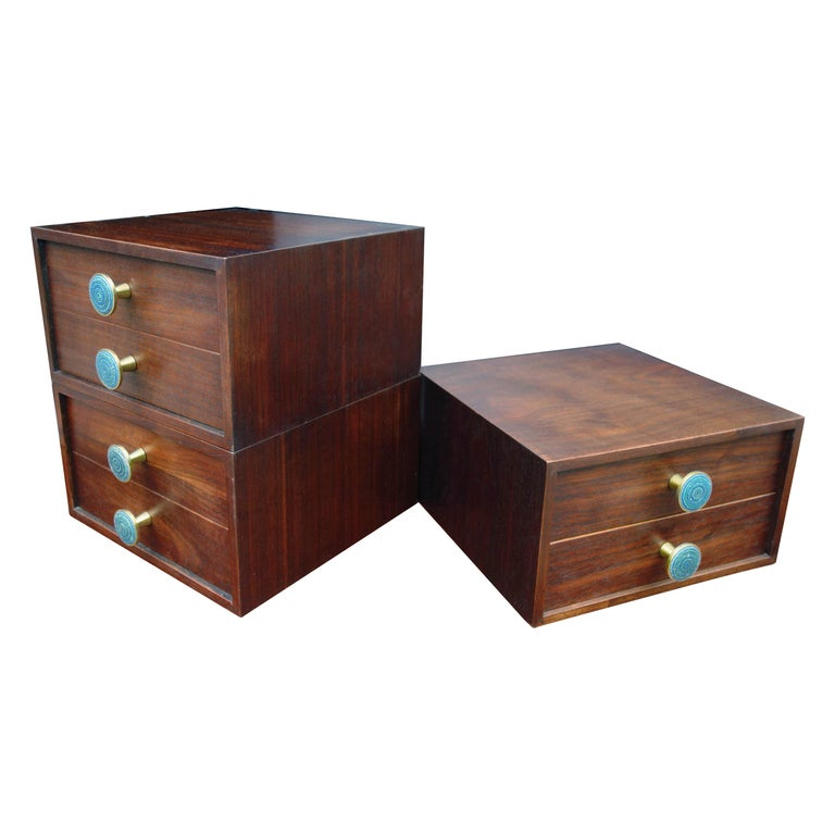 Midcentury Cabinet Top Set of Drawers For Sale