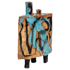 Midcentury Abstract Sculpture by California Studio Potter Win Ng