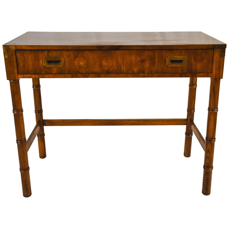 Midcentury Campaign Style Desk by Dixie Furniture For Sale