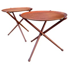 Midcentury Campaign Tray Tables by Nils Trautner