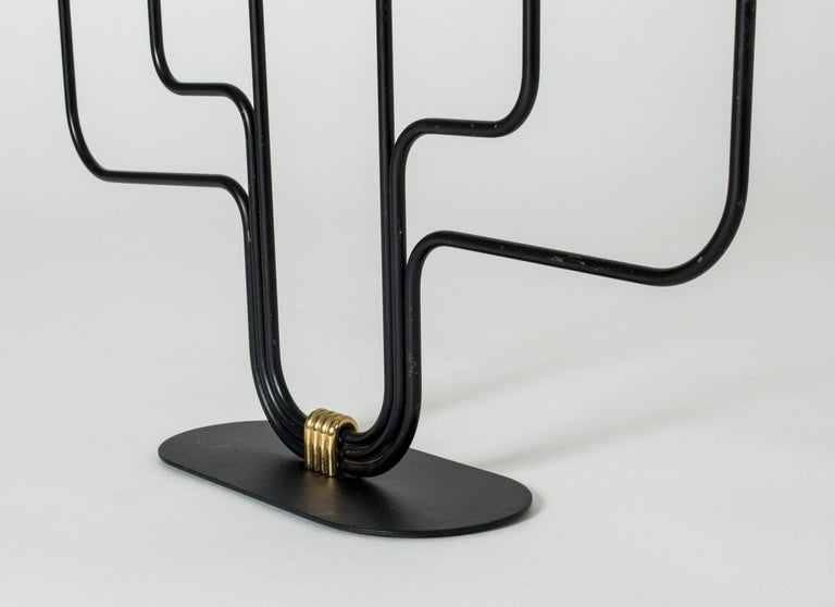 Metal Midcentury Candlestick by Gunnar Ander For Sale