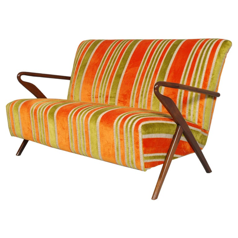 Midcentury Carlo de Carli Designer Attributed Restored Setof Armchairs and Sofà For Sale 3