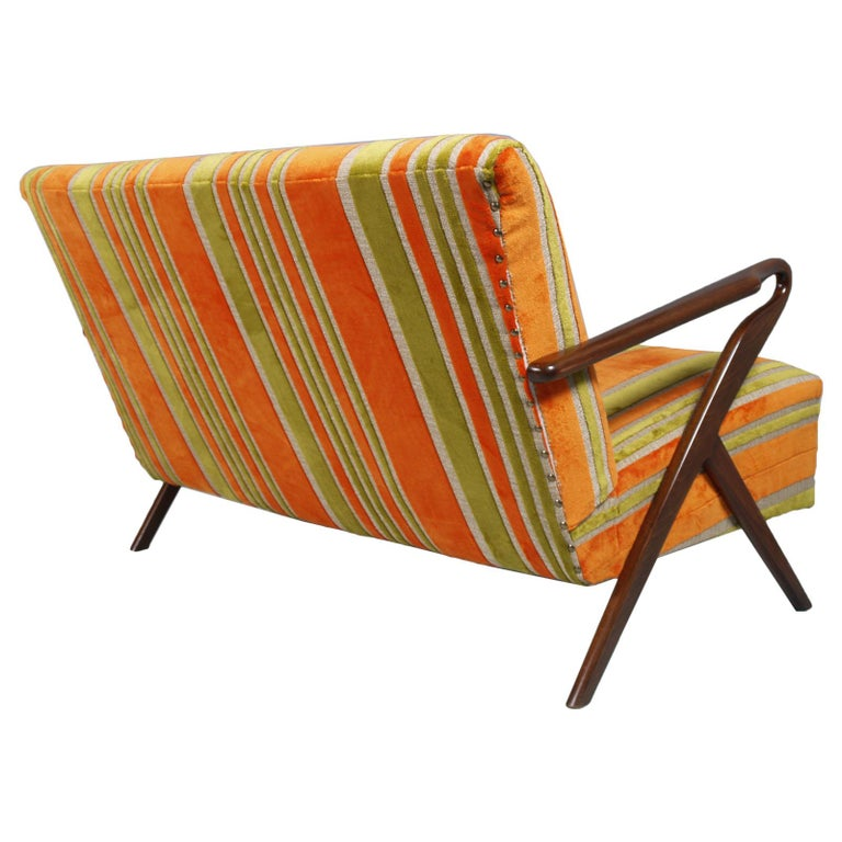 Midcentury Carlo de Carli Designer Attributed Restored Setof Armchairs and Sofà For Sale 4