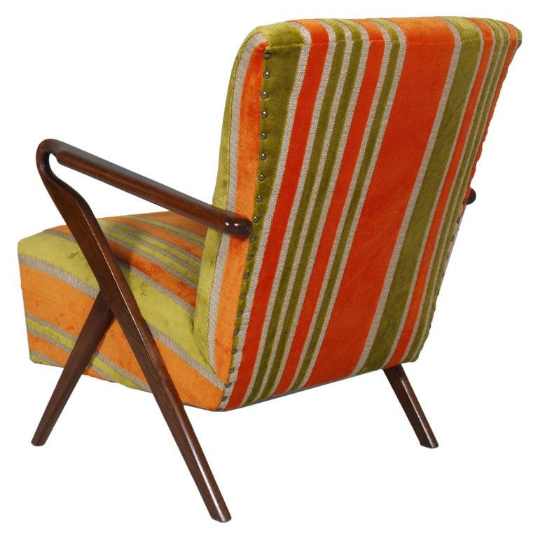 Midcentury Carlo de Carli Designer Attributed Restored Setof Armchairs and Sofà In Excellent Condition For Sale In Vigonza, Padua