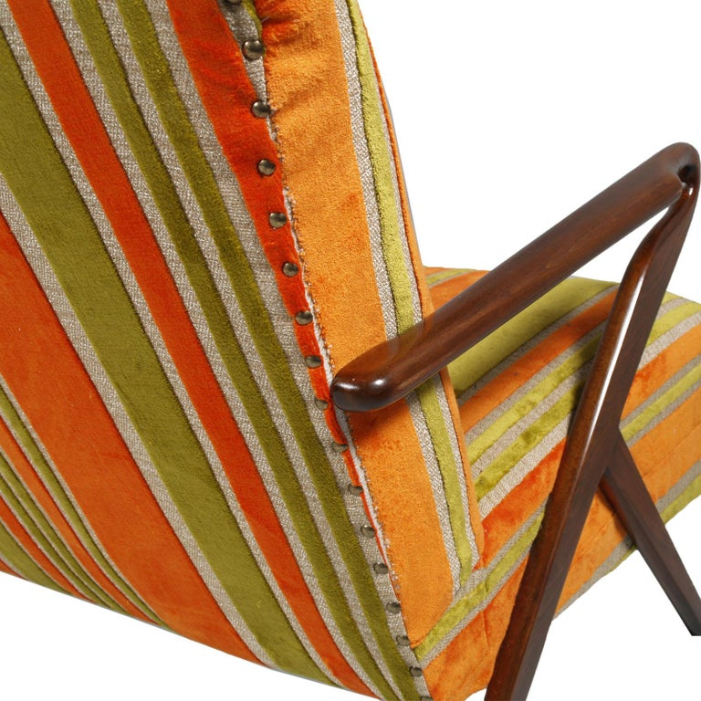Midcentury Carlo de Carli Designer Attributed Restored Setof Armchairs and Sofà For Sale 2