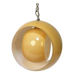 Midcentury Carlo Nason Yellow Murano Glass Italia Chandelier for Mazzega, 1960s