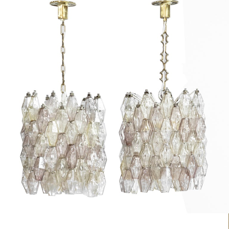 Pair of suspension lamps model