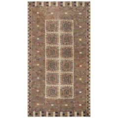Midcentury Carnation Tapestry Weave Rug by Marta Maas-Fjetterstrom