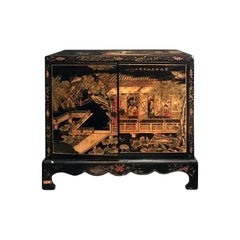 Midcentury Carved Chinoiserie Cabinet