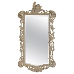 Hollywood Regency Carved Wood Shell Mirror