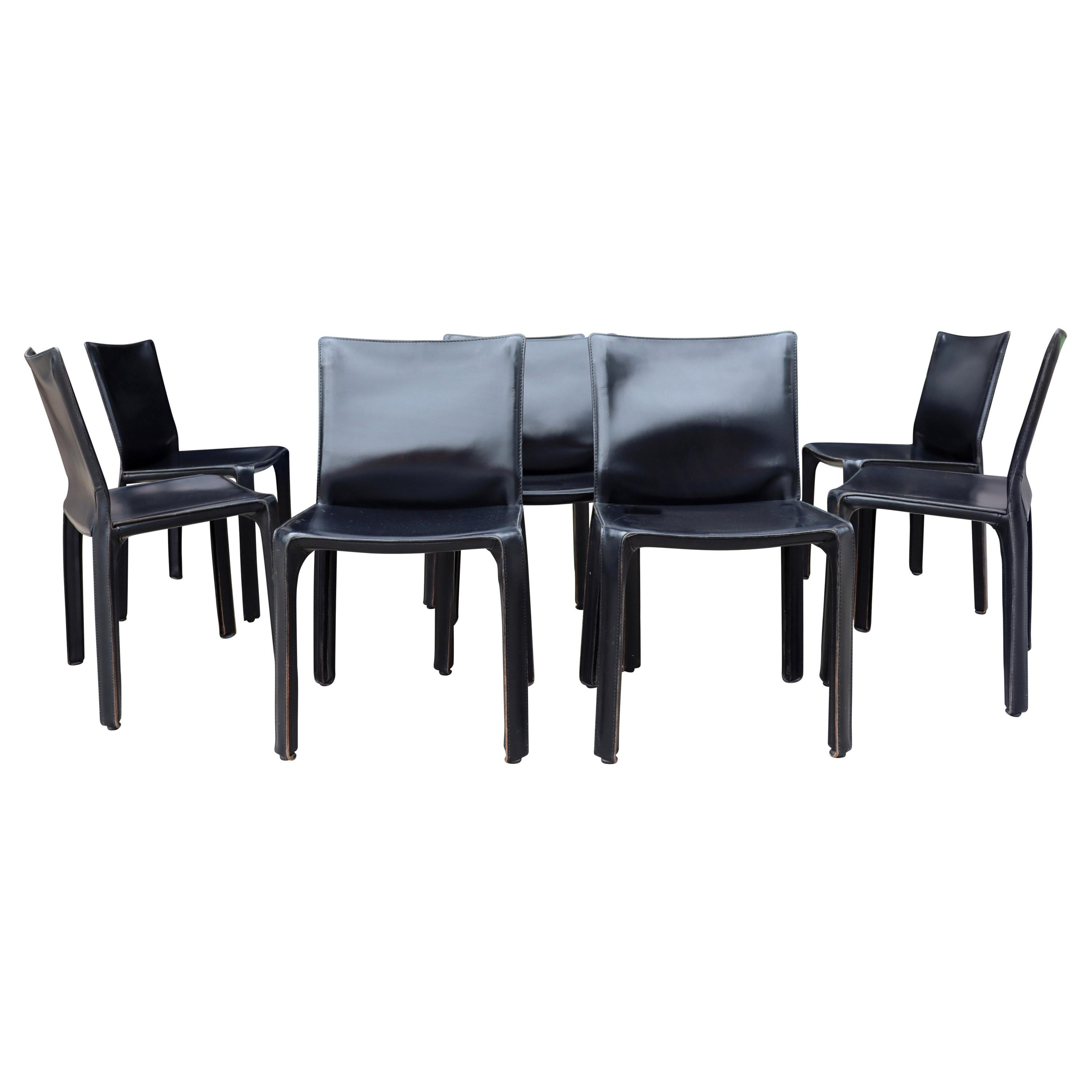 Midcentury Cassina Cab Chairs by Mario Bellini