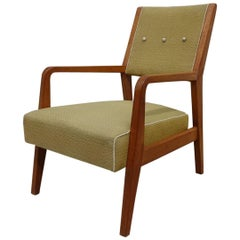 Midcentury Cedar Wood Armchair by José Espinho for Olaio, 1950s