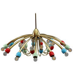 Midcentury Ceiling Lamp Italian 1950 Stilnovo