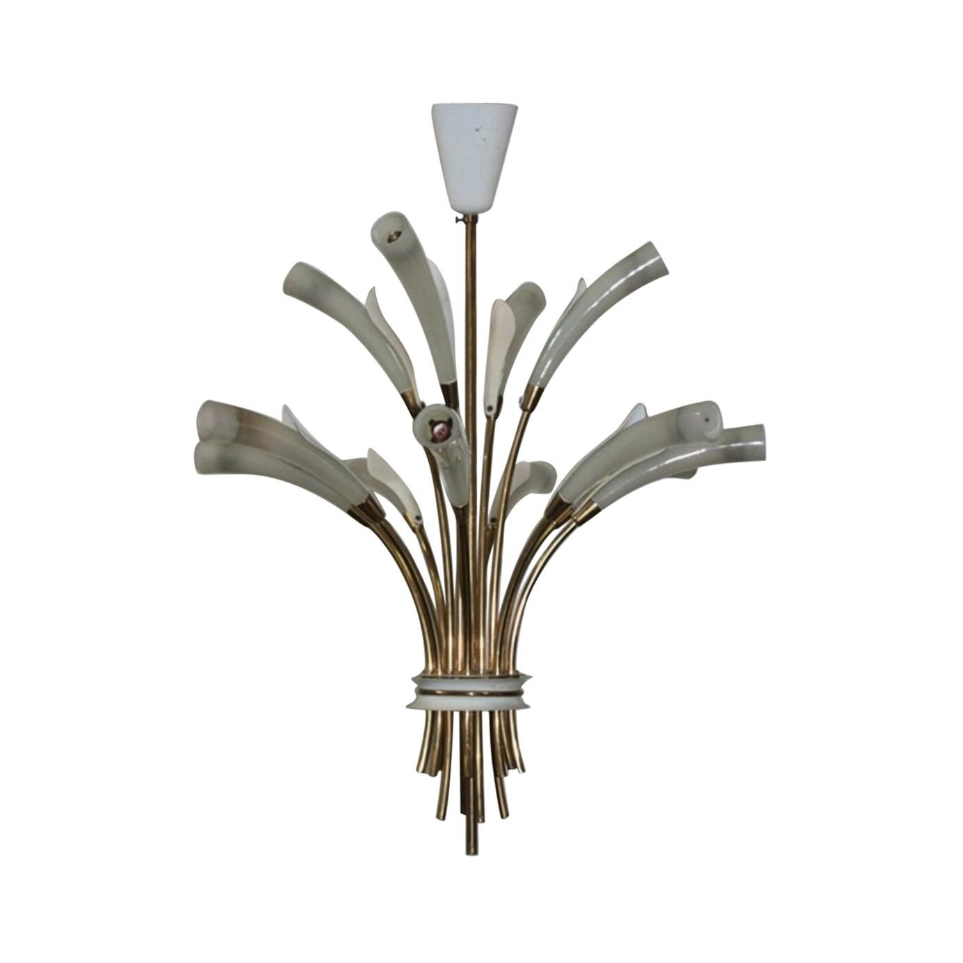 Midcentury Ceiling Light in the Style of Arredoluce Angelo Lelli