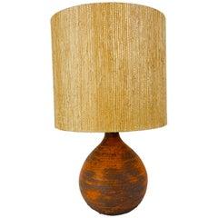 Midcentury Ceramic Base Table Lamp, 1960s