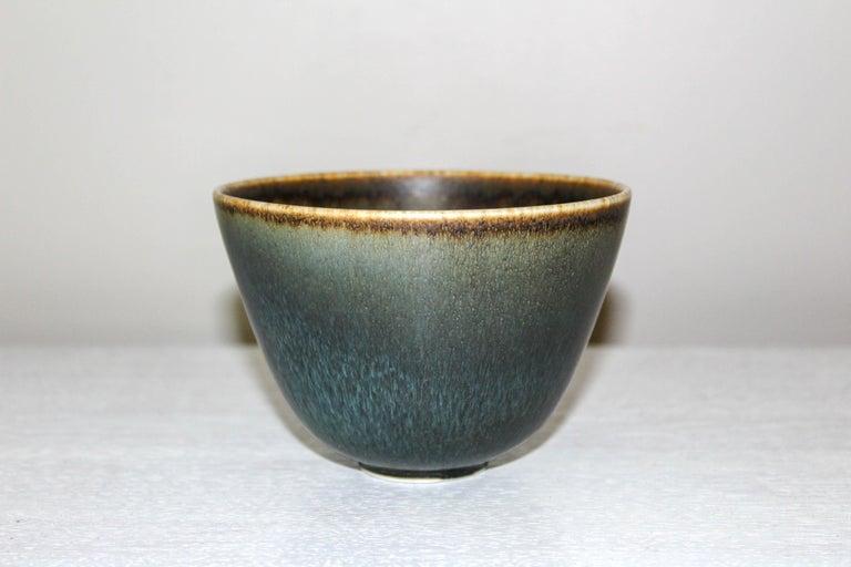 Scandinavian Modern Midcentury Ceramic Bowl by Gunnar Nylund for Rörstrand For Sale