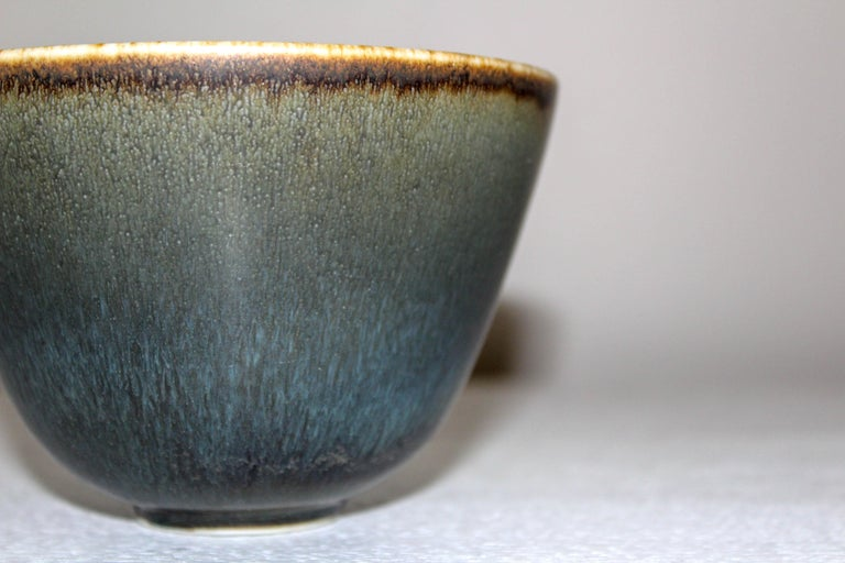 Midcentury Ceramic Bowl by Gunnar Nylund for Rörstrand In Good Condition For Sale In Malmo, SE