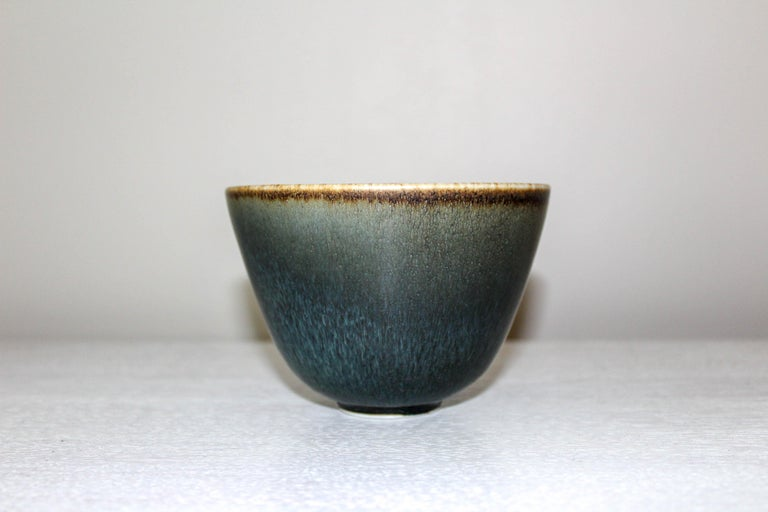 Mid-20th Century Midcentury Ceramic Bowl by Gunnar Nylund for Rörstrand For Sale