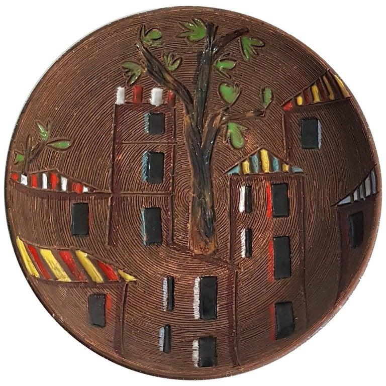 Midcentury Ceramic Bowl, Italy For Sale