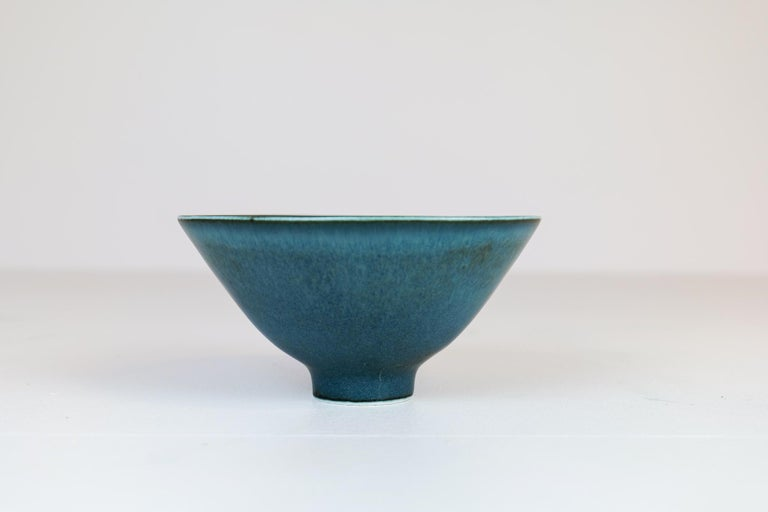 Midcentury Ceramic Bowl Rörstrand Carl Harry Stålhane, Sweden, 1950s In Good Condition For Sale In Langserud, SE