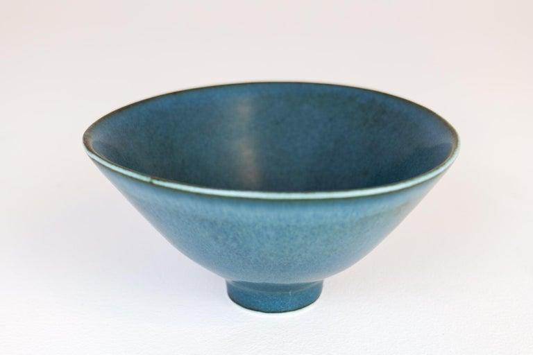 Mid-20th Century Midcentury Ceramic Bowl Rörstrand Carl Harry Stålhane, Sweden, 1950s For Sale