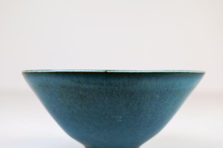 Midcentury Ceramic Bowl Rörstrand Carl Harry Stålhane, Sweden, 1950s For Sale 3
