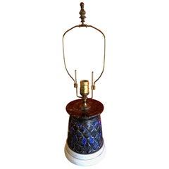 Midcentury Ceramic Geometric Lamp by Chilo Inch
