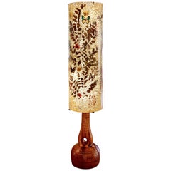 Midcentury Ceramic Lamp with Resin Shade by Accolay