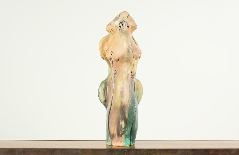 American Mid-Century Ceramic Nude Women Sculpture For Sale
