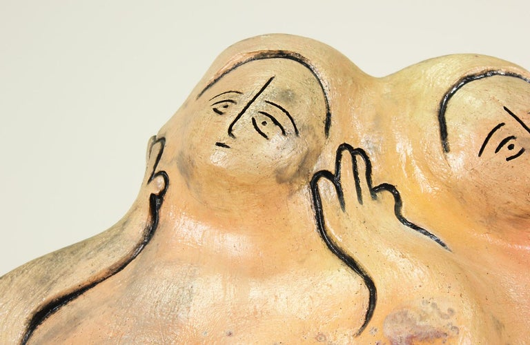Mid-Century Ceramic Nude Women Sculpture For Sale 1