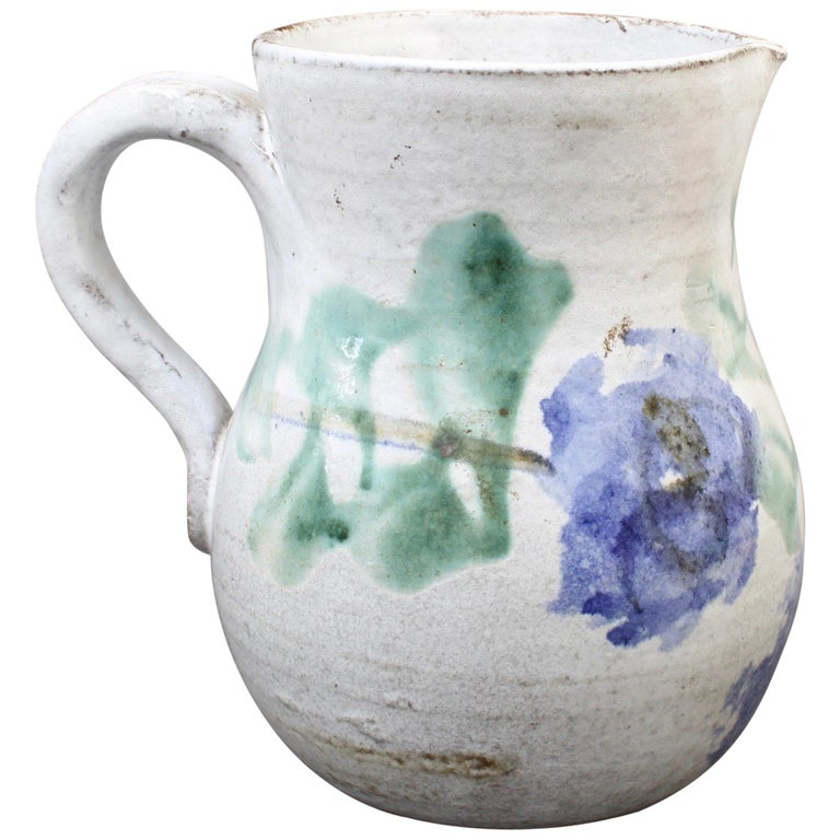 Midcentury Ceramic Pitcher by Albert Thiry, 'circa 1960s' For Sale