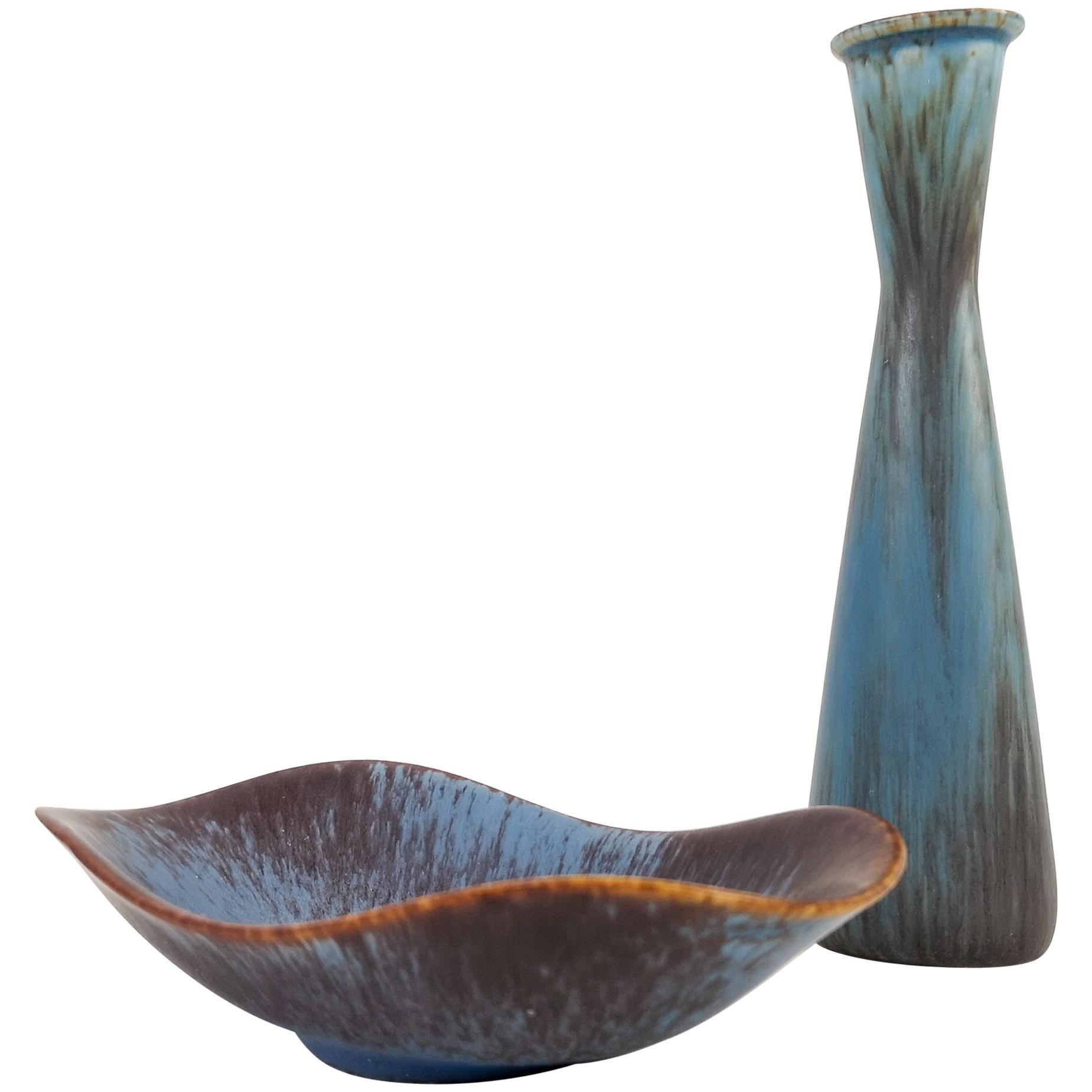 Midcentury Ceramic Set of 2 Pieces Gunnar Nylund Rörstrand Sweden