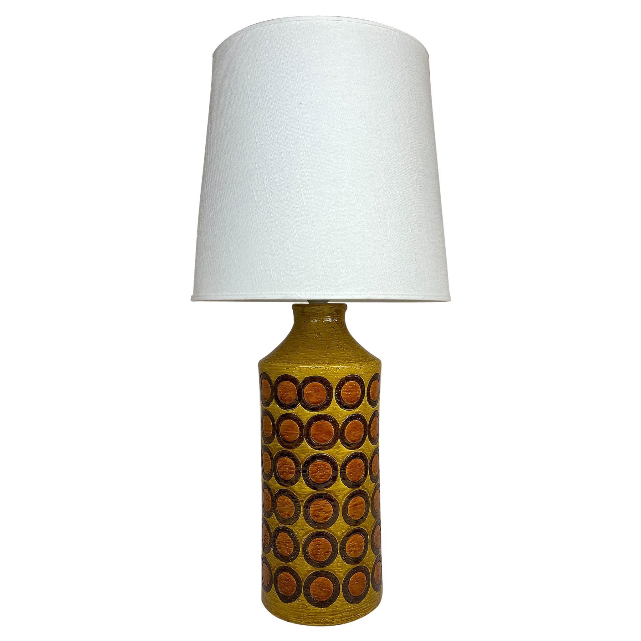 Midcentury Ceramic Table Lamp Bergbom Bitossi, Italy