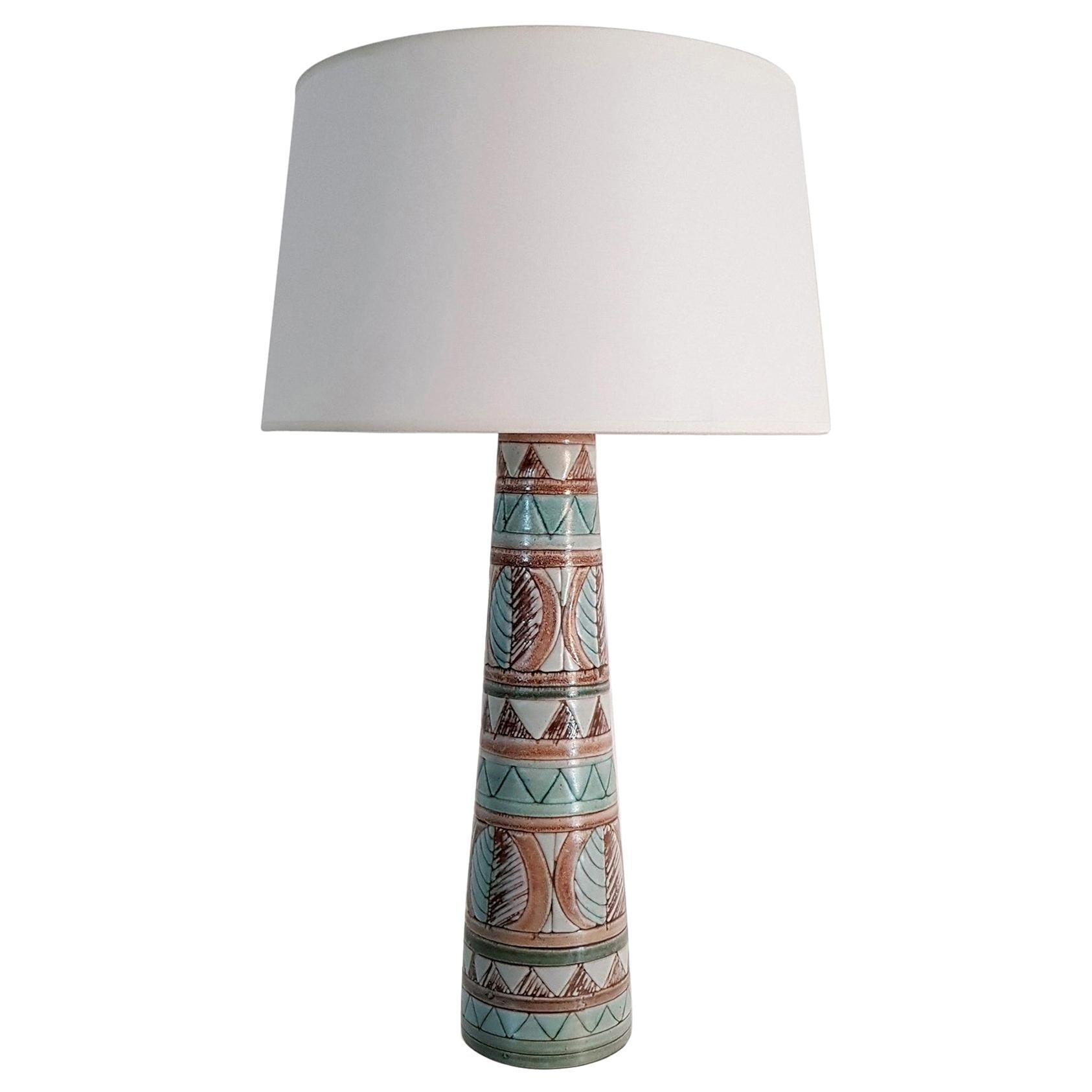Midcentury Ceramic Table Lamp Made in Sweden