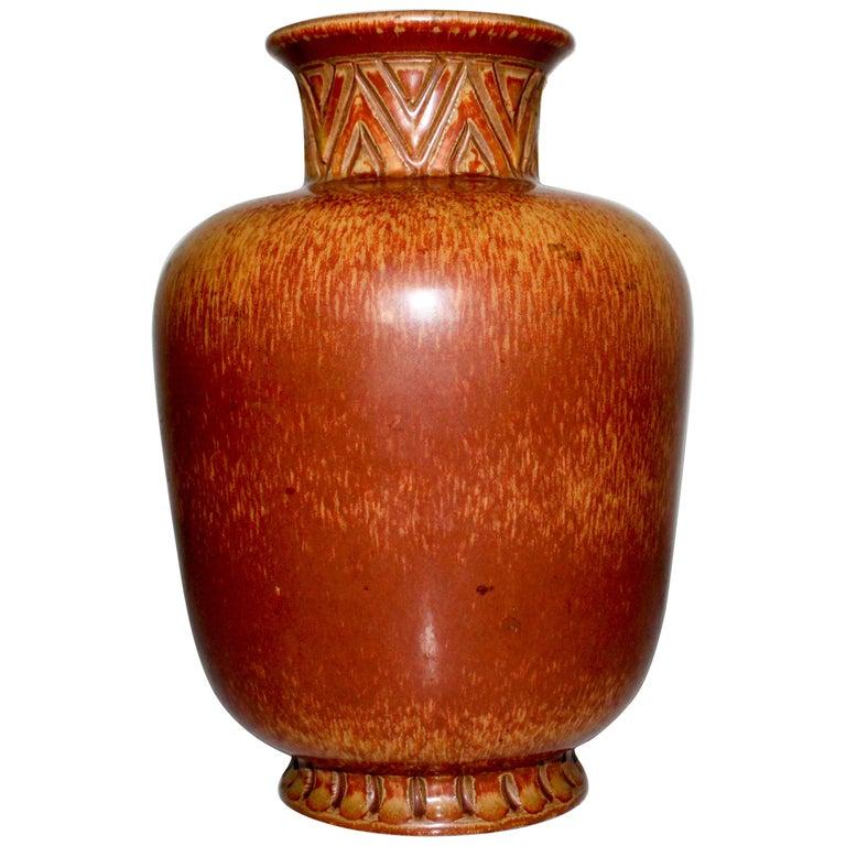 Midcentury Ceramic Vase by Gunnar Nylund for Rörstrand For Sale