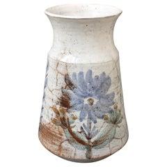Midcentury Ceramic Vase by Gustave Reynaud / Le Mûrier, circa 1950s