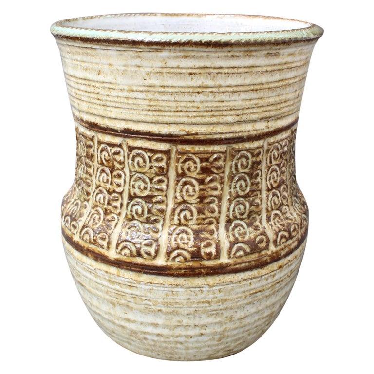 Midcentury Ceramic Vase by Marcel Giraud, circa 1960s For Sale