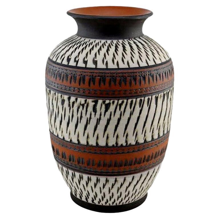 Midcentury Ceramic Vase, Germany, 1960s, Possibly Vintage Lamp