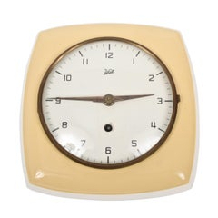Midcentury Ceramic Wall Clock by Walt, Germany, 1950s