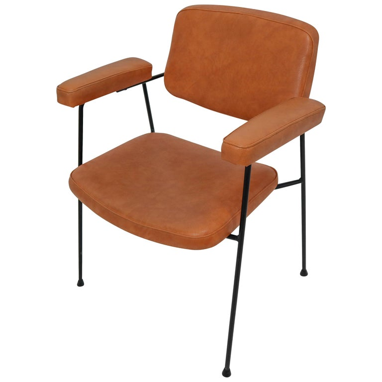 "Midcentury Chair ""CM197"" by Pierre Paulin for Thonet, France, 1950s For Sale"