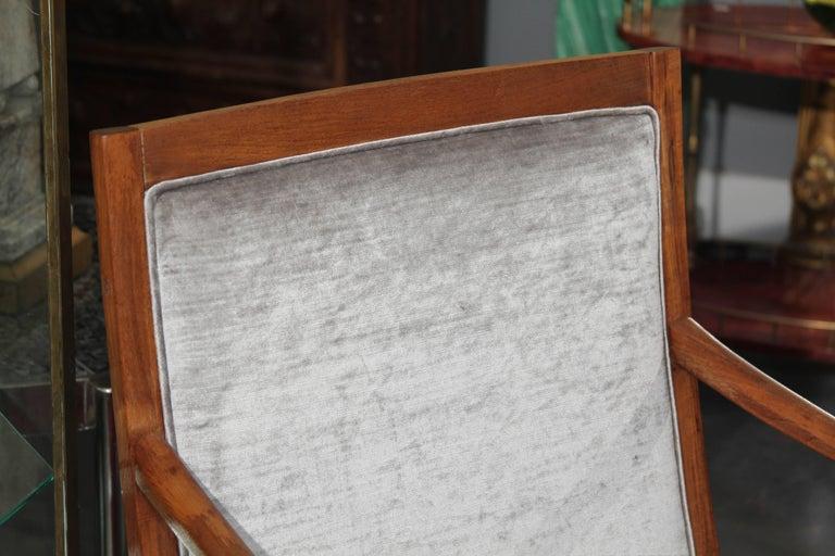 20th Century Midcentury Chair in Velvet For Sale