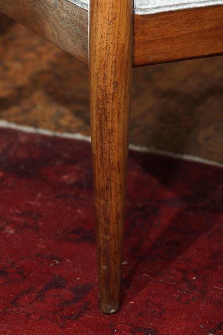 Midcentury Chair in Velvet For Sale 2