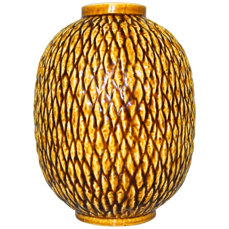 Midcentury Chamotte Vase by Gunnar Nylund for Rörstrand For Sale