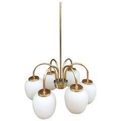 Midcentury Chandelier by Bent Karlby Danish, 1960s