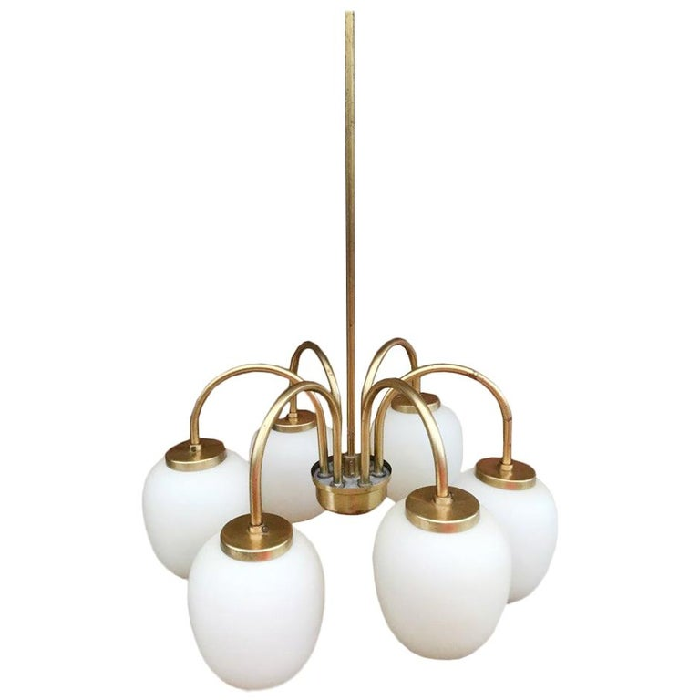 Midcentury Chandelier by Bent Karlby Danish, 1960s For Sale