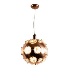 Midcentury Chandelier in the Manner of Oscar Torlasco, circa 1960